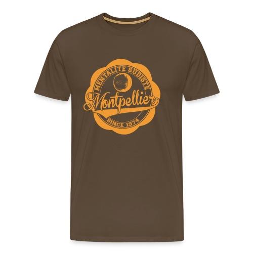 MENTALITE SUDISTE / logo orange / (marron) - T-shirt Premium Homme