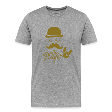 Fashionable retro gentleman player with moustache rock | olympics | football | Championship | victory T-Shirts