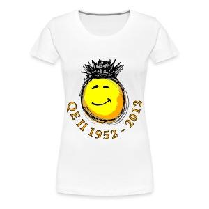 QE II Queenie Jubilee Smiley - Women's Premium T-Shirt
