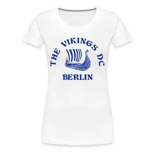 Home Anleitung - Girlie Flockdruck beidseitig - Frauen Premium T-Shirt