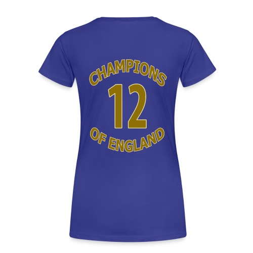 OCCUPY FOOTBALL - Man City - Champions Of England (Women's Tee) - Women's Premium T-Shirt