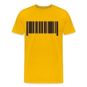 Mannen T-shirt klassiek (Barcode) - Mannen Premium T-shirt