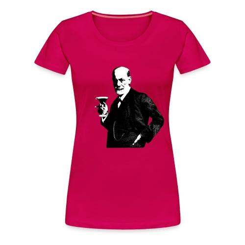 Sigmund Freud T-Shirt Damen (black/white) - Frauen Premium T-Shirt