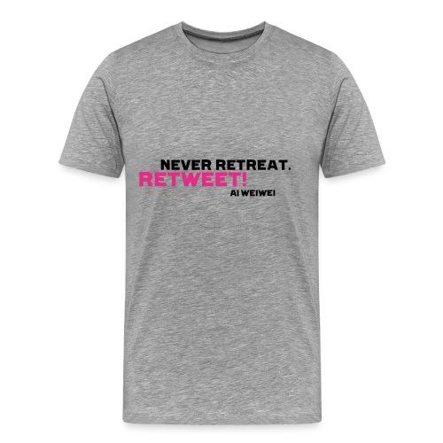 Never Retreat. Retweet! Ai Weiwei - Männer Premium T-Shirt