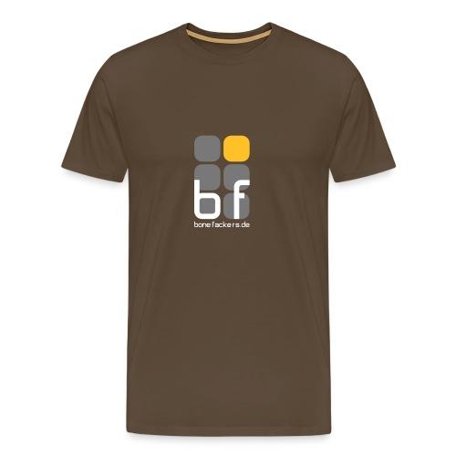 Brustaufdruck braun - Männer Premium T-Shirt