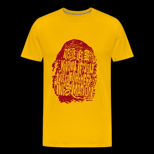 Fingerprint DNA (red) - Men's Premium T-Shirt