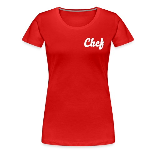 Chef Left  Side - Women's Premium T-Shirt