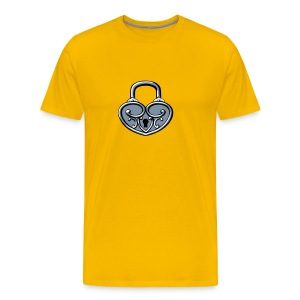 Pop My Lock 3D-Silver - Men's Premium T-Shirt