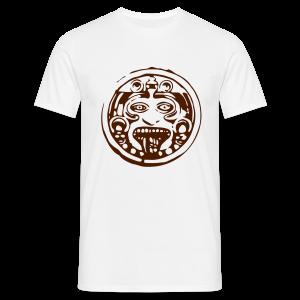 Mayan face terra - Mannen T-shirt