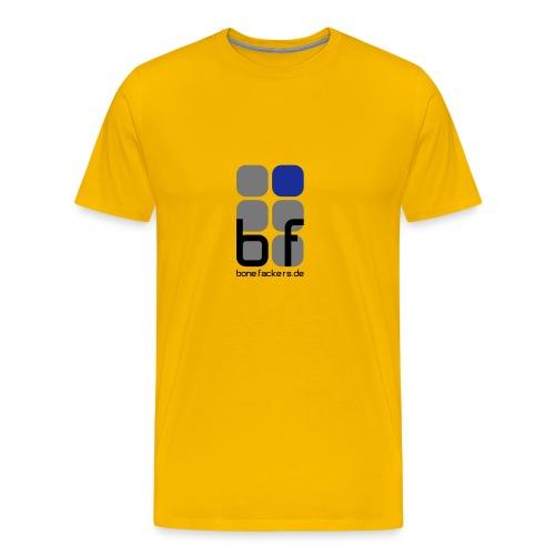 Brustaufdruck gelb - Männer Premium T-Shirt