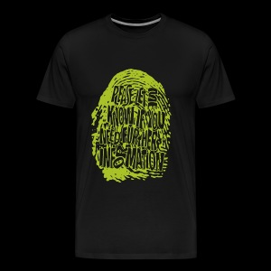 Fingerprint DNA (green) - Premium-T-shirt herr