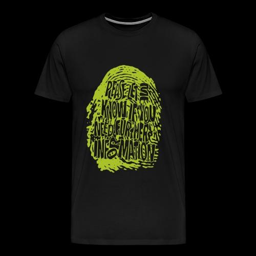 Fingerprint DNA (green) - Koszulka męska Premium