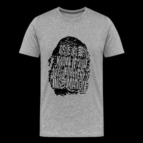 Fingerprint DNA (black) - Koszulka męska Premium