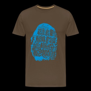 Fingerprint DNA (blue) - Premium-T-shirt herr