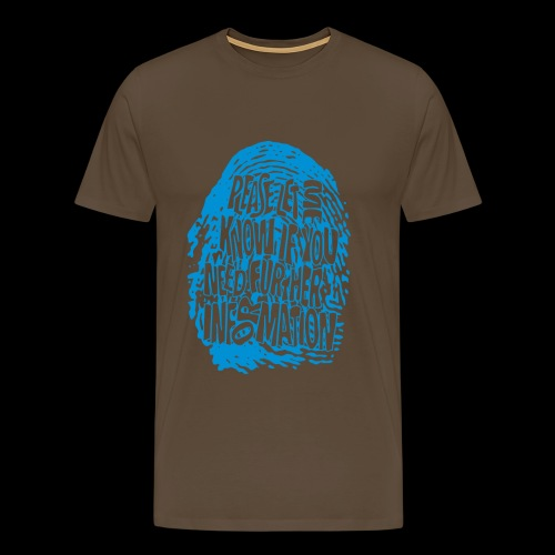 Fingerprint DNA (blue) - Men's Premium T-Shirt