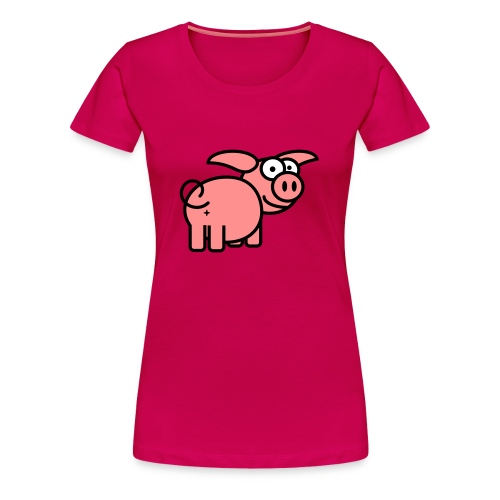 Curly Tailed Pig (Womens) - Women's Premium T-Shirt