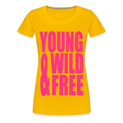 T-shirt Meisjes Geel - Vrouwen Premium T-shirt
