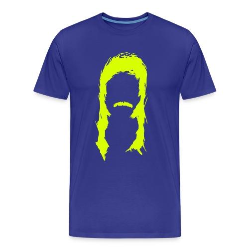 Männer Premium T-Shirt - vokuhila, new, kid, kids, Junge, Schnauzer, schnauzbart, Barrie, Newkid, Newkids, Prolet, manta, assi