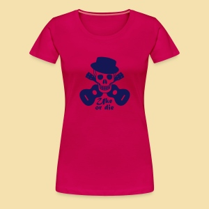 XL-Girlshirt: Uke or die Motiv (navy) - Frauen Premium T-Shirt