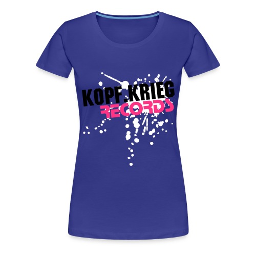 Kopf.Krieg-Records (Blue-Girly) - Frauen Premium T-Shirt