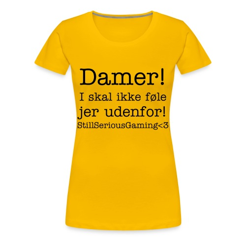 Girlie Yellow - Dame premium T-shirt
