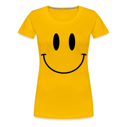 Acid Smiley Tee (Ladies) - Women's Premium T-Shirt