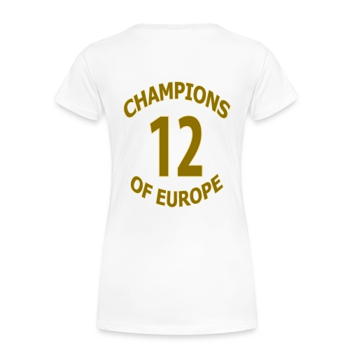 OCCUPY FOOTBALL - Chelsea - Champions Of Europe (Women's Tee) - Women's Premium T-Shirt