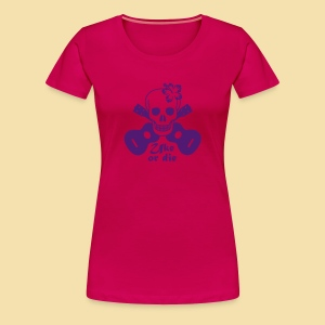 Girlshirt: Uke or die for women (Motiv: lila) - Frauen Premium T-Shirt