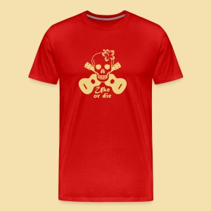 Menshirt: Uke or die for women (Motiv: beige) - Männer Premium T-Shirt