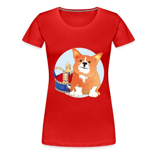 Royal Corgi - Large - Women's Premium T-Shirt