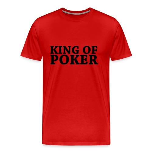 King of Poker - Übergrößenshirt - Männer Premium T-Shirt