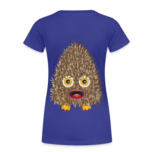 Funshirt Wuschelmonster Eule - Frauen Premium T-Shirt