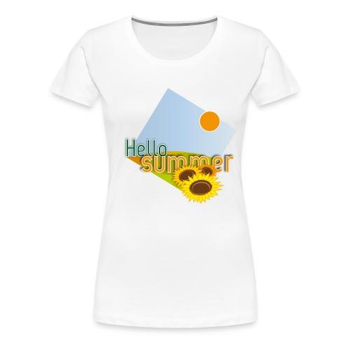 T-shirt donna Hello Summer - Maglietta Premium da donna