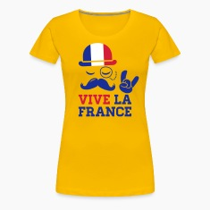 France mode vélo cyclisme championnat football tour or drapeau jaune moustache Tee shirts