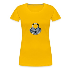 Pop My Lock 3D-Silver - Women's Premium T-Shirt