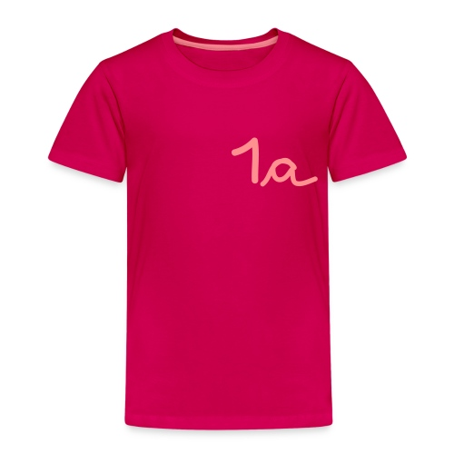 Kinder Premium T-Shirt - -schütze,1a,Erste,Erstklässler,Schulanfang,Schuleinführung,Schulkind,Schüler,Zuckertüte,anfang,erste Klasse,grundschule,lernen,schule,schultag,schultüte