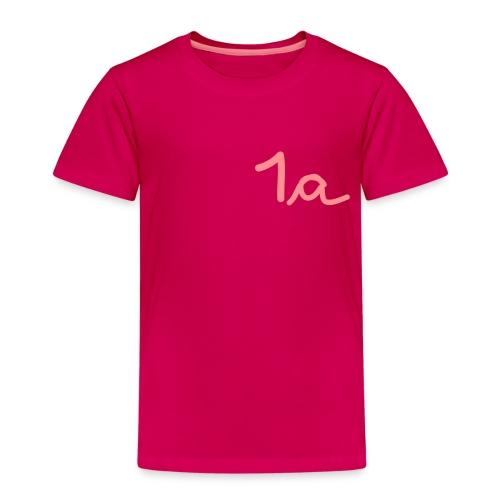 Kinder Premium T-Shirt - schultüte,schultag,schule,lernen,grundschule,erste Klasse,anfang,Zuckertüte,Schüler,Schulkind,Schuleinführung,Schulanfang,Erstklässler,Erste,1a,-schütze