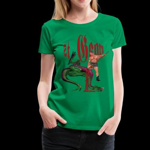 Frauen T-Shirt: St. Georg besiegt den Drachen - Frauen Premium T-Shirt