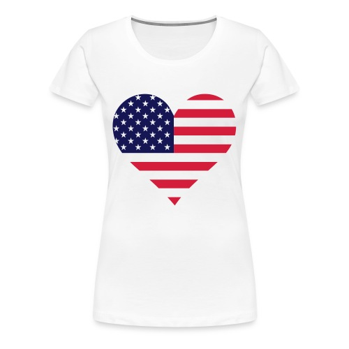 i love Amerika t-shirt - Vrouwen Premium T-shirt