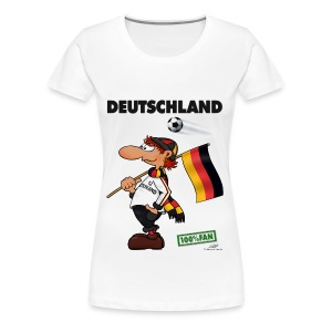 Fanshirt Deutschland 2012 - white edition - Girls - Frauen Premium T-Shirt