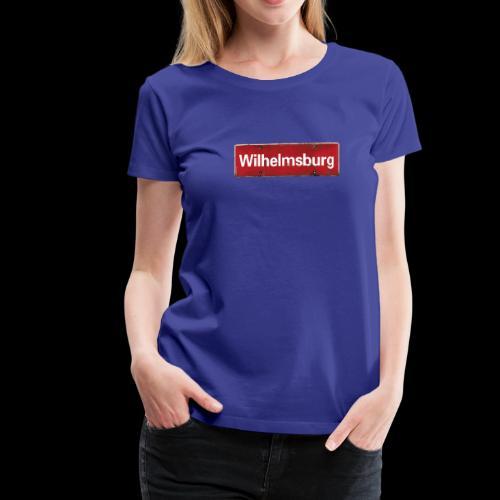 Damen T-Shirt: Hamburg | Wilhelmsburg | Retro-Ortsschild - Frauen Premium T-Shirt
