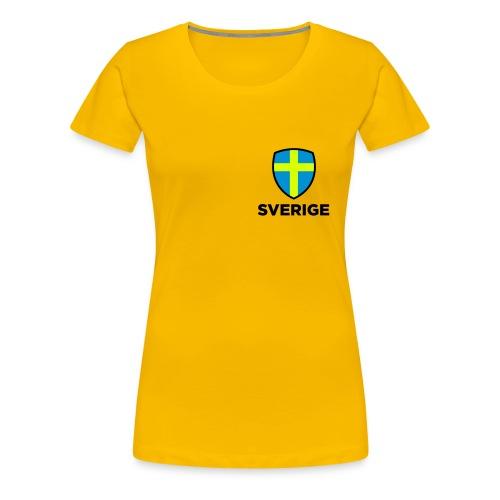 Sverige emblem - Premium-T-shirt dam