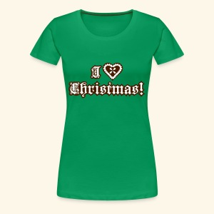 I ♥ Christmas!, Girlie - Frauen Premium T-Shirt