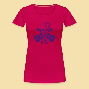 XL-Girlshirt: Uke or die for women (Motiv: lila) - Frauen Premium T-Shirt