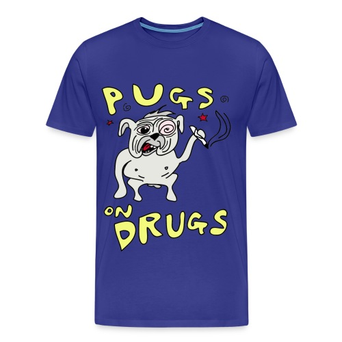 Mens Pugs on Drugs Regular Fit - Men's Premium T-Shirt