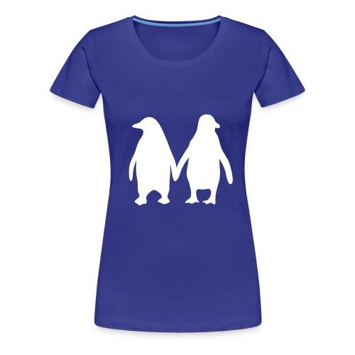 Pinguïn liefde - Vrouwen Premium T-shirt