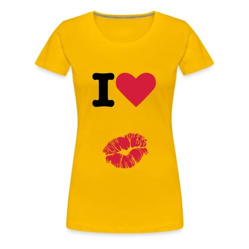 Kiss a  vous - T-shirt Premium Femme