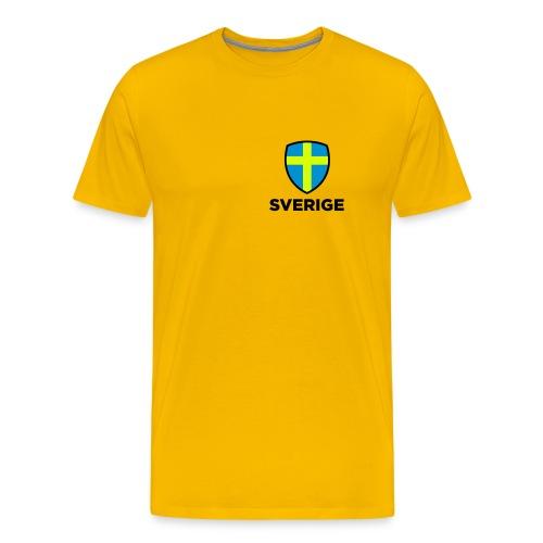 Sverige emblem - Premium-T-shirt herr