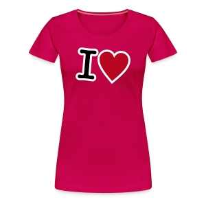Girlieshirt I Love - Frauen Premium T-Shirt