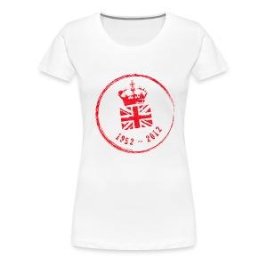 Diamond Jubliee Stamp - Large - Women's Premium T-Shirt